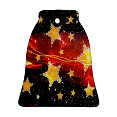 Holiday Space Bell Ornament (Two Sides)