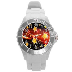 Holiday Space Round Plastic Sport Watch (L)
