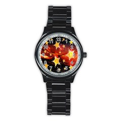 Holiday Space Stainless Steel Round Watch