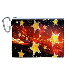 Holiday Space Canvas Cosmetic Bag (L)