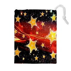 Holiday Space Drawstring Pouches (Extra Large)