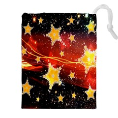 Holiday Space Drawstring Pouches (XXL)