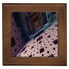 Industry Fractals Geometry Graphic Framed Tiles