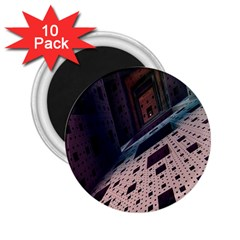 Industry Fractals Geometry Graphic 2.25  Magnets (10 pack)
