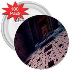 Industry Fractals Geometry Graphic 3  Buttons (100 pack)