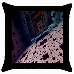 Industry Fractals Geometry Graphic Throw Pillow Case (Black)