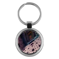 Industry Fractals Geometry Graphic Key Chains (Round)