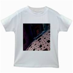 Industry Fractals Geometry Graphic Kids White T-Shirts