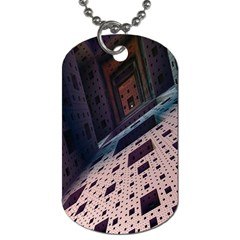 Industry Fractals Geometry Graphic Dog Tag (One Side)
