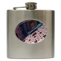 Industry Fractals Geometry Graphic Hip Flask (6 Oz)