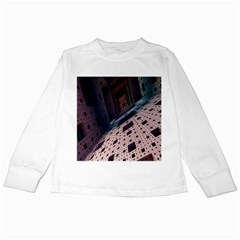 Industry Fractals Geometry Graphic Kids Long Sleeve T-Shirts