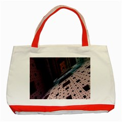 Industry Fractals Geometry Graphic Classic Tote Bag (red)