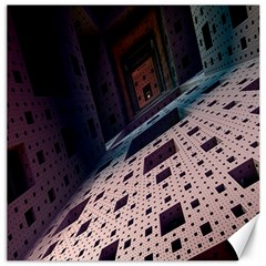 Industry Fractals Geometry Graphic Canvas 16  x 16