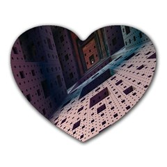 Industry Fractals Geometry Graphic Heart Mousepads