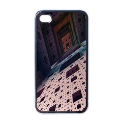 Industry Fractals Geometry Graphic Apple iPhone 4 Case (Black)