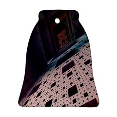 Industry Fractals Geometry Graphic Bell Ornament (Two Sides)