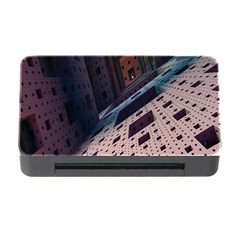 Industry Fractals Geometry Graphic Memory Card Reader with CF