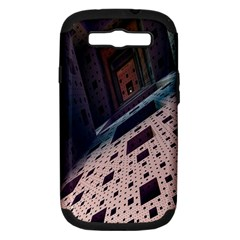 Industry Fractals Geometry Graphic Samsung Galaxy S III Hardshell Case (PC+Silicone)