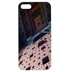 Industry Fractals Geometry Graphic Apple iPhone 5 Hardshell Case with Stand