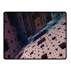 Industry Fractals Geometry Graphic Double Sided Fleece Blanket (Small)