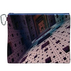 Industry Fractals Geometry Graphic Canvas Cosmetic Bag (xxxl)