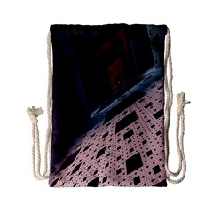 Industry Fractals Geometry Graphic Drawstring Bag (Small)
