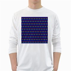Honeycomb Fractal Art White Long Sleeve T-Shirts