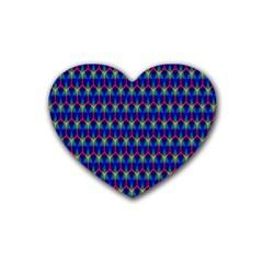 Honeycomb Fractal Art Rubber Coaster (Heart)