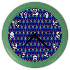 Honeycomb Fractal Art Color Wall Clocks