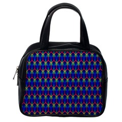 Honeycomb Fractal Art Classic Handbags (One Side)