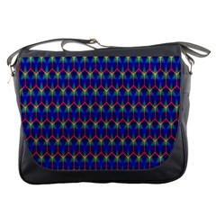 Honeycomb Fractal Art Messenger Bags