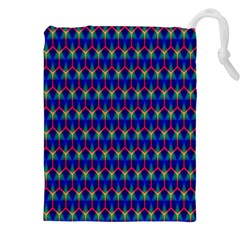 Honeycomb Fractal Art Drawstring Pouches (XXL)