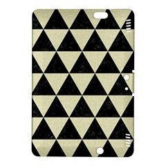 Triangle3 Black Marble & Beige Linen Kindle Fire Hdx 8 9  Hardshell Case