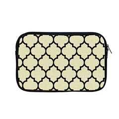 Tile1 Black Marble & Beige Linen (r) Apple Macbook Pro 13  Zipper Case