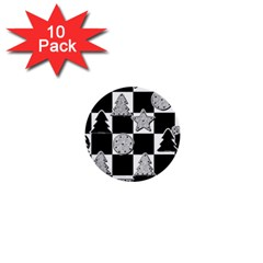 Xmas Checker 1  Mini Buttons (10 pack)
