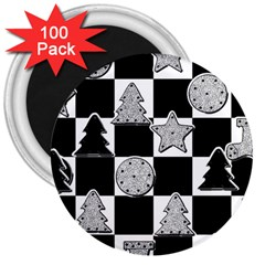 Xmas Checker 3  Magnets (100 pack)