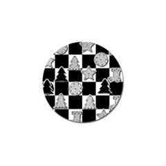 Xmas Checker Golf Ball Marker (4 pack)