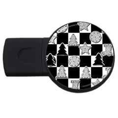 Xmas Checker USB Flash Drive Round (2 GB)