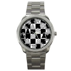 Xmas Checker Sport Metal Watch