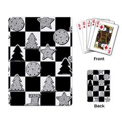 Xmas Checker Playing Card