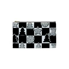 Xmas Checker Cosmetic Bag (Small)