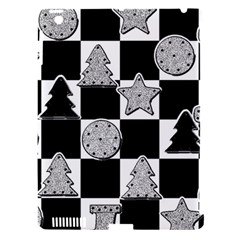 Xmas Checker Apple iPad 3/4 Hardshell Case (Compatible with Smart Cover)