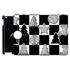 Xmas Checker Apple Ipad 3/4 Flip 360 Case