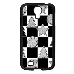 Xmas Checker Samsung Galaxy S4 I9500/ I9505 Case (Black)