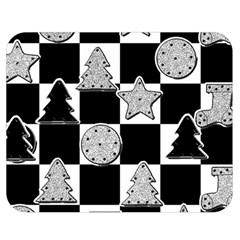 Xmas Checker Double Sided Flano Blanket (Medium)