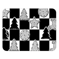 Xmas Checker Double Sided Flano Blanket (Large)