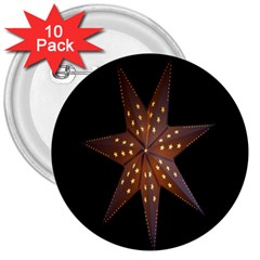 Star Light Decoration Atmosphere 3  Buttons (10 pack)