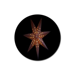 Star Light Decoration Atmosphere Rubber Round Coaster (4 pack)