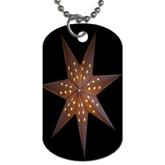 Star Light Decoration Atmosphere Dog Tag (one Side)