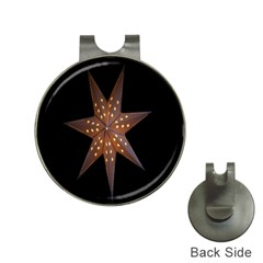 Star Light Decoration Atmosphere Hat Clips with Golf Markers